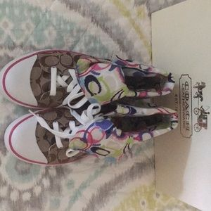 Coach Bonney Poppy IKAT HighTop shoes